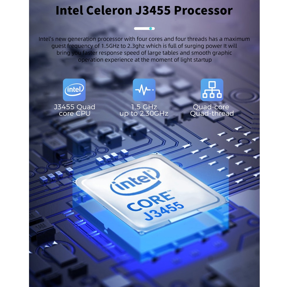 KUU A8S 15.6 inch Student Laptop 6GB RAM 256GB SSD Notebook For intel J3455 Quad Core Ultrabook With Webcam Bluetooth WiFi