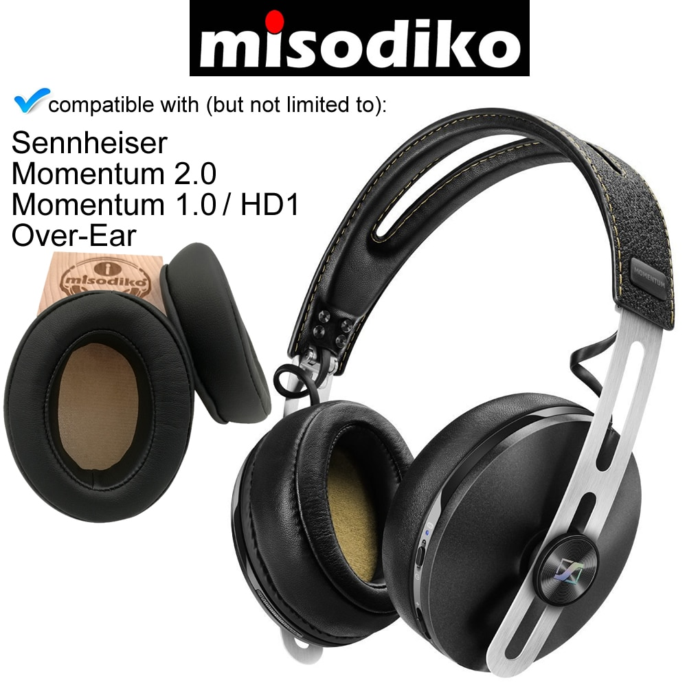 misodiko Replacement Angled Cushions Ear Pads - for Sennheiser Momentum 2.0/ 1.0 (M2/ M1), HD1 Over-Ear, Headphones Earpads
