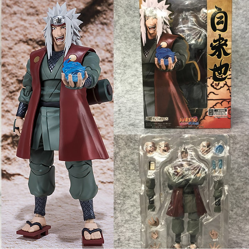 SHF Shippuden Jiraiya Action Figure Toy Collection Figuarts Gift
