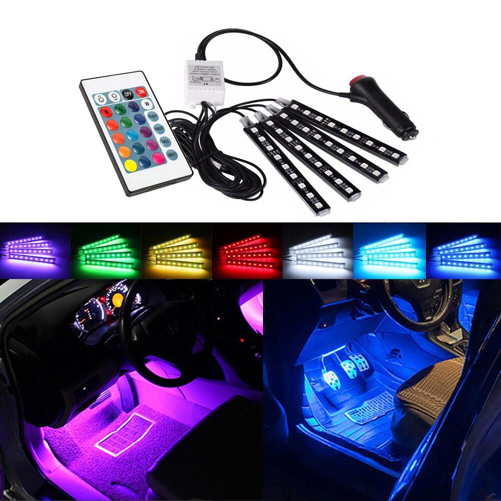 Controle remoto automotivo, lâmpada decorativa, rgb, para mercedes benz w212 w124 w212 w212 w203 w204 w205 w639 w130 w246 gla cla amg