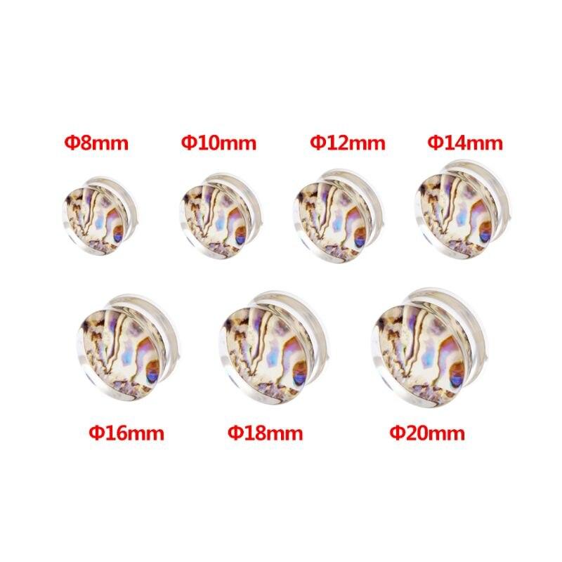 Abalone concha orelha expansão moda feminina popular brinco jóias 8mm 10mm 12mm 14mm 16mm 18mm 20mm