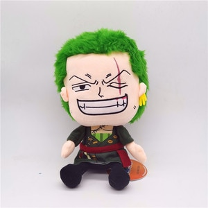New Anime ONE PIECE Roronoa Zoro Cute Soft Stuffed Plush Toys Model Party Dolls Decorations Birthday Christmas Gifts For Friends