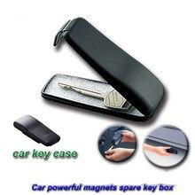 Mini güçlü manyetik araba anahtarı tutucu kutusu açık Stash anahtarlı kasa için araba kamyon karavan gizli gizli depolama yedek anahtar kutusu