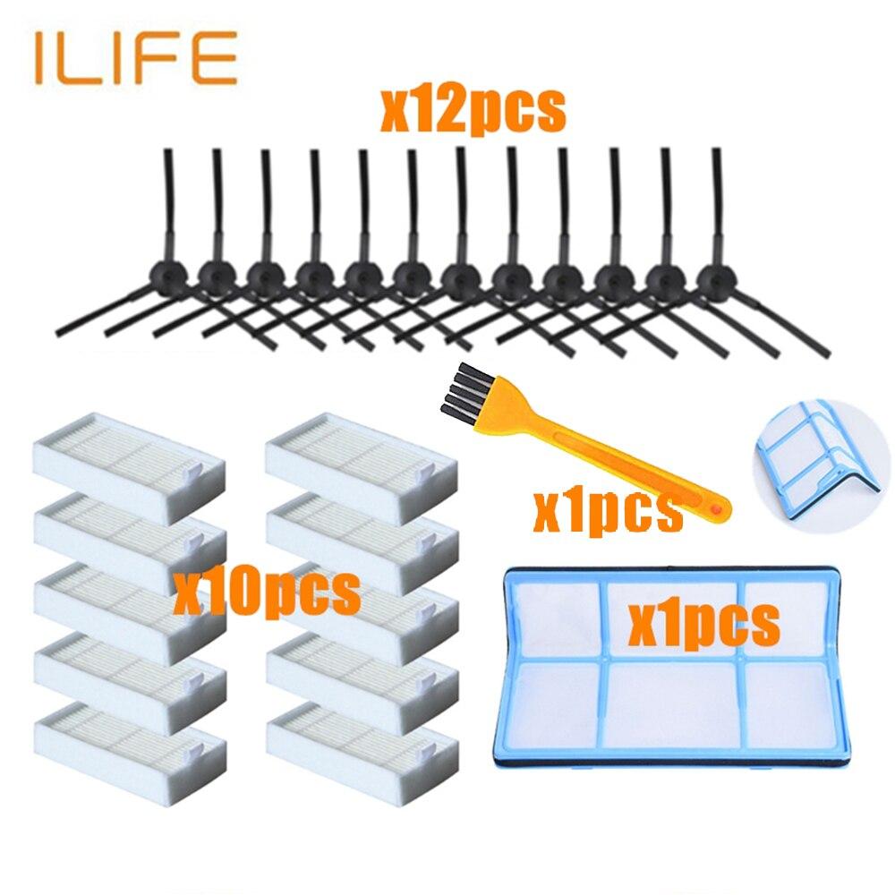 Основной фильтр пыли боковая щетка эффективный фильтр тонкой очистки воздуха для ilife v5 v5s V3 V3s v5pro V50 V55 x5 v5s pro робот пылесос части
