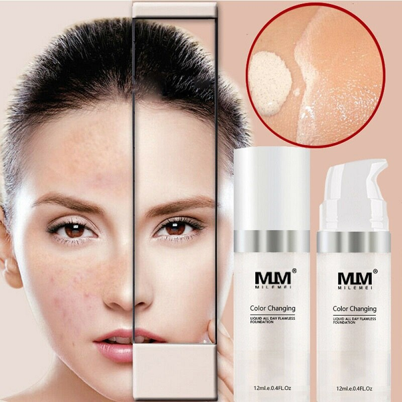 Maquillaje maquillaje líquido de base cambia de Color cambia a tu tono de piel simplemente mezclando TLM base de maquillaje que cambia de Color