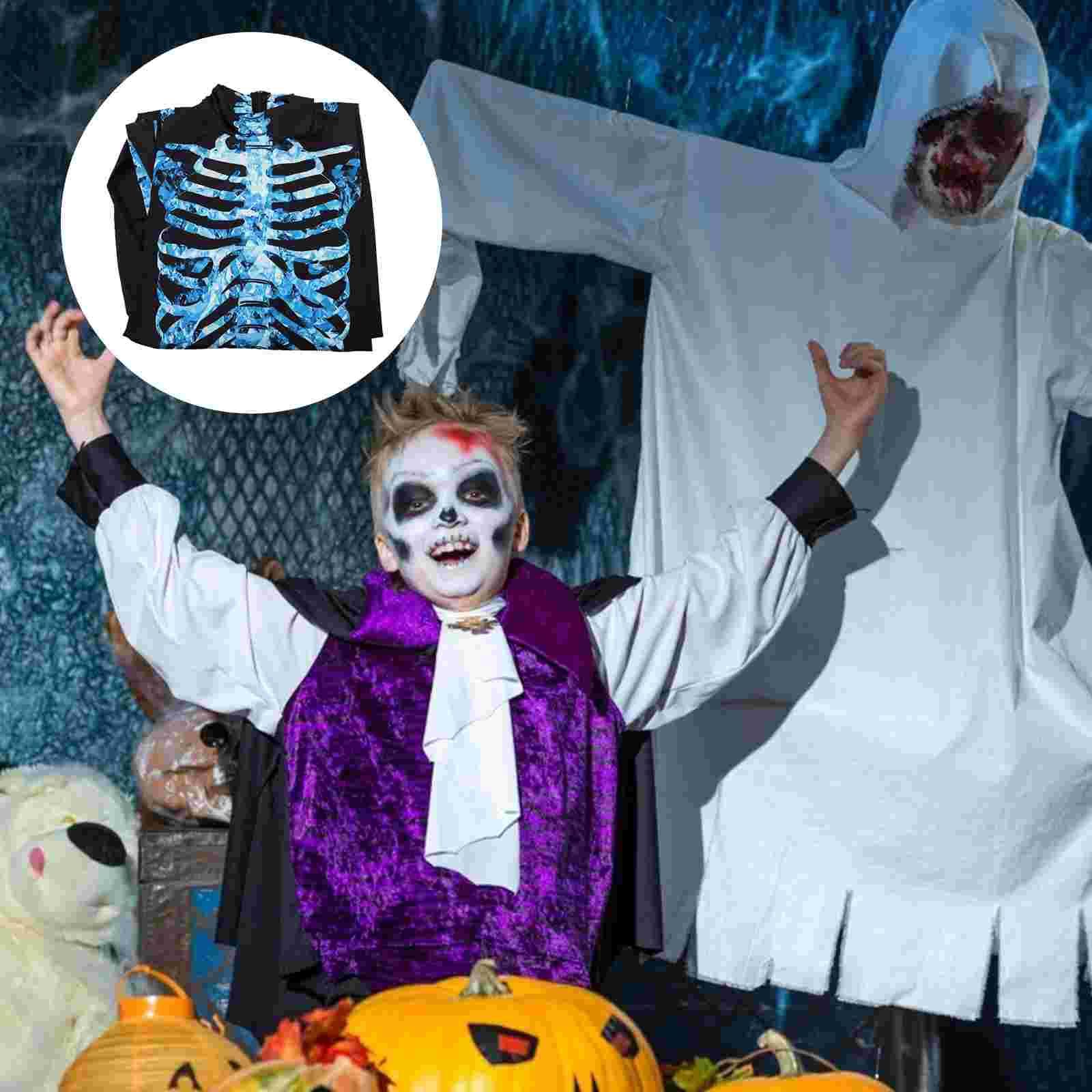 1Pc Skeleton Jumpsuit Cosplay Costume Printed Bodysuit