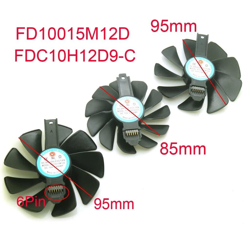 مروحة تبريد بطاقة الجرافيكس ، FD10015M12D ، FDC10H12D9-C DC12V ، VGA ، لـ Sapphire RX5700XT ، RX5700 ، RX5600 ، XT ، D6 hkd