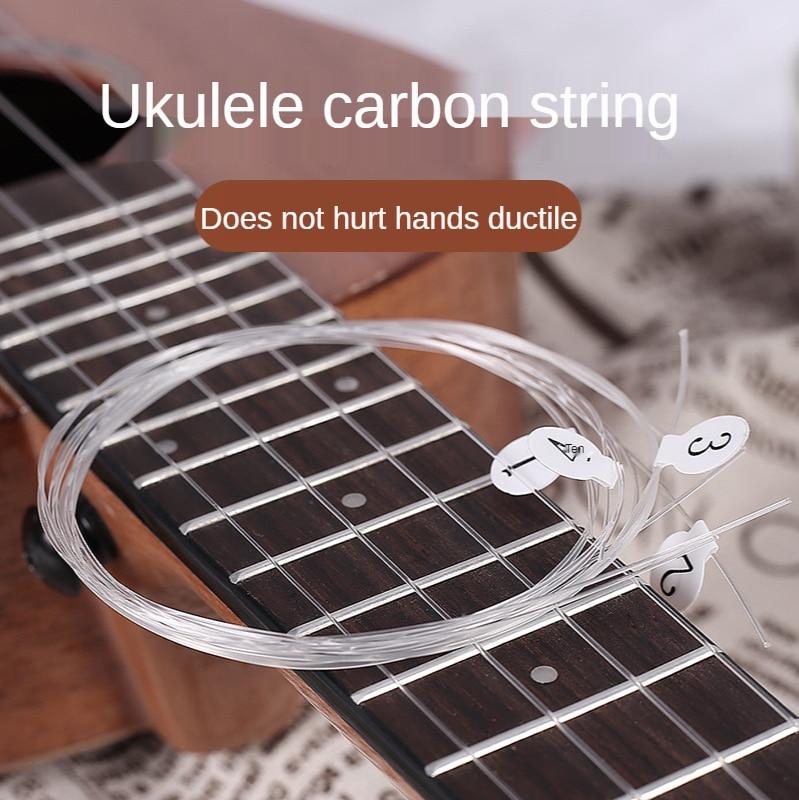 Ukulele Snaren 4 Stks/set Wit Duurzaam Nylon Vervanging Deel Voor 21 Inch 23 Inch 26 Inch Snaarinstrument