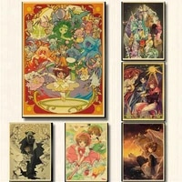 japan classic anime nordic poster and print captor sakura home living room decor wall art picture canvas painting for kids girls