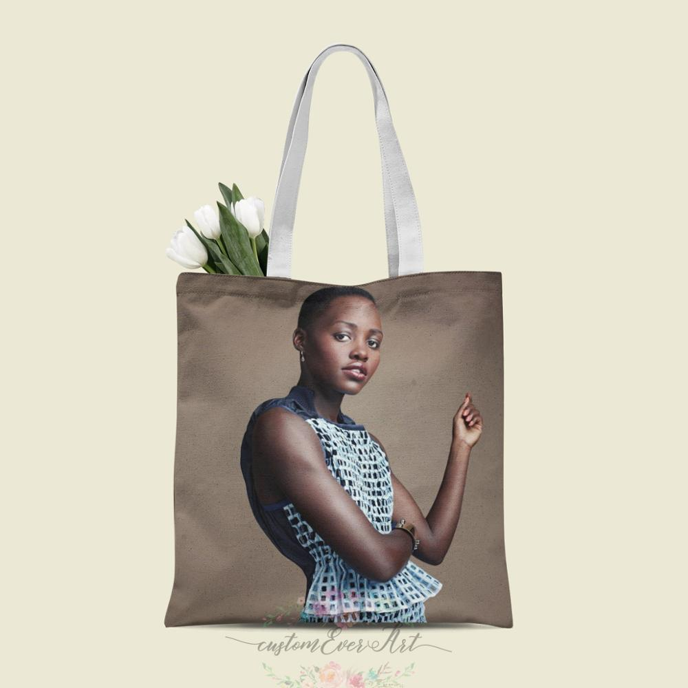 Lupita-Bolso de mano de Nyong'o para mujer, bolsa de lona personalizada, para...