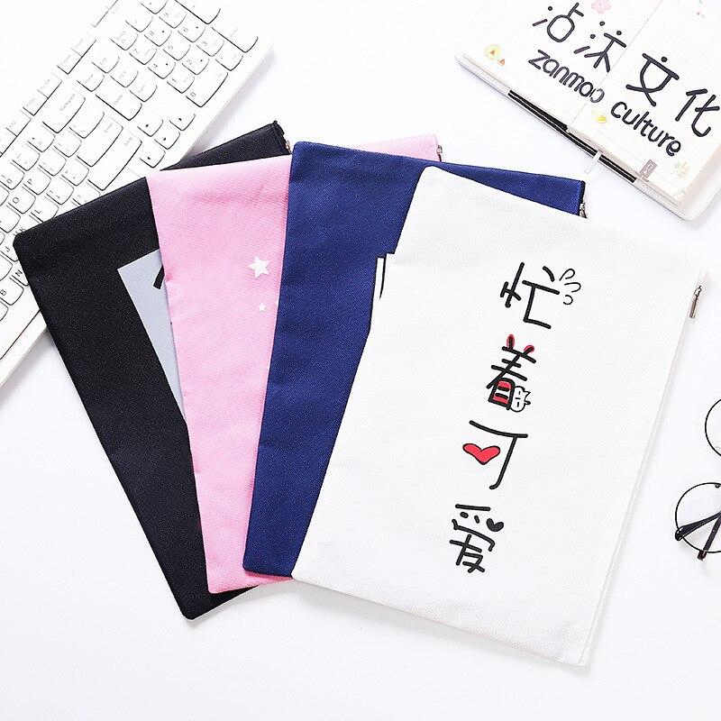 1513 bonito oxford pano arquivo titular pouco fada informações saco de armazenamento rosa estudantes carteira papel papelaria