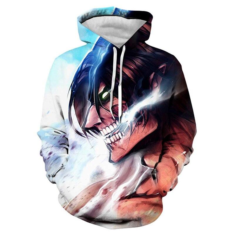 Harajuku Anime Hoodies Attack On Titan 3D Printed Hooded Sweatshirt Men/Women Casual Fashion Streetwear Pullover Hip Hop Hoodie недорого