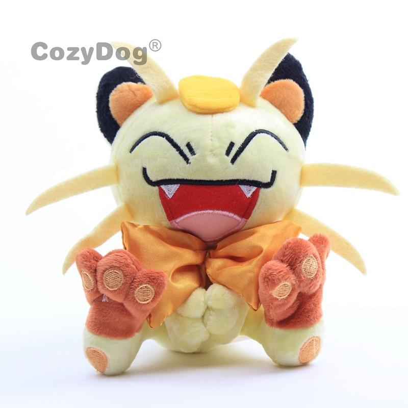 Juguetes de Peluche de 16 cm de Anime Meowth, Peluche de Pikachu, Eevee, Psyduck Mewtwo Series, Gato amarillo, juguetes de Peluche, regalo para niños