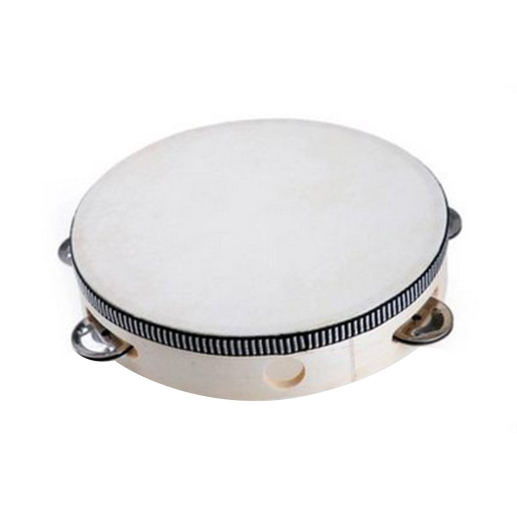 Educativos Mini tambor Musical madera bebés, niños a mano instrumento de percusión de juguete pandereta enseñanza SIDA de Metal