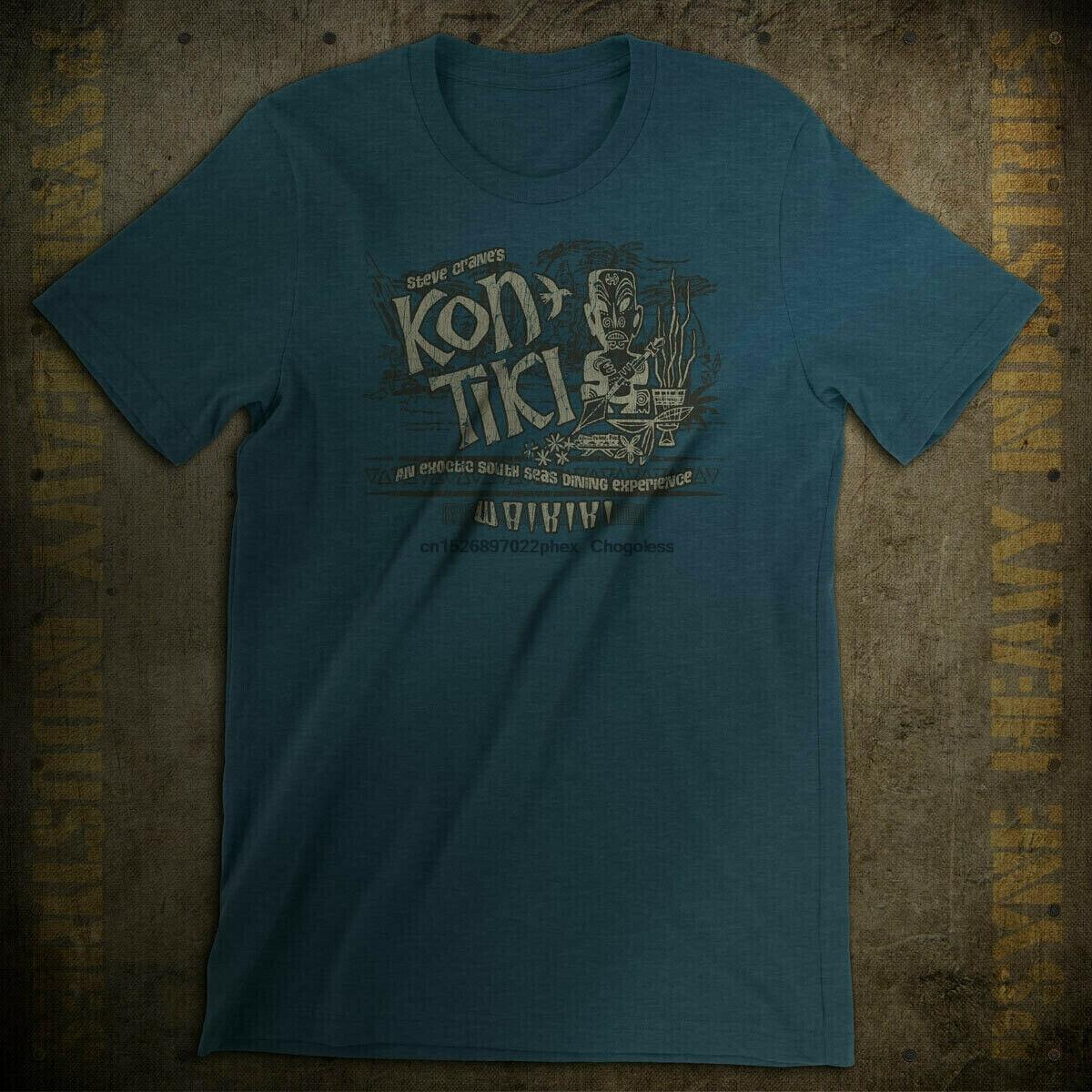 Steve Kran der Kon Tiki Waikiki Vintage Polynesian T-Shirt
