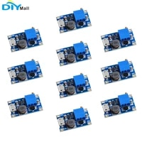10pcs mt3608 2a dc dc step up booster power supply module micro usb interface