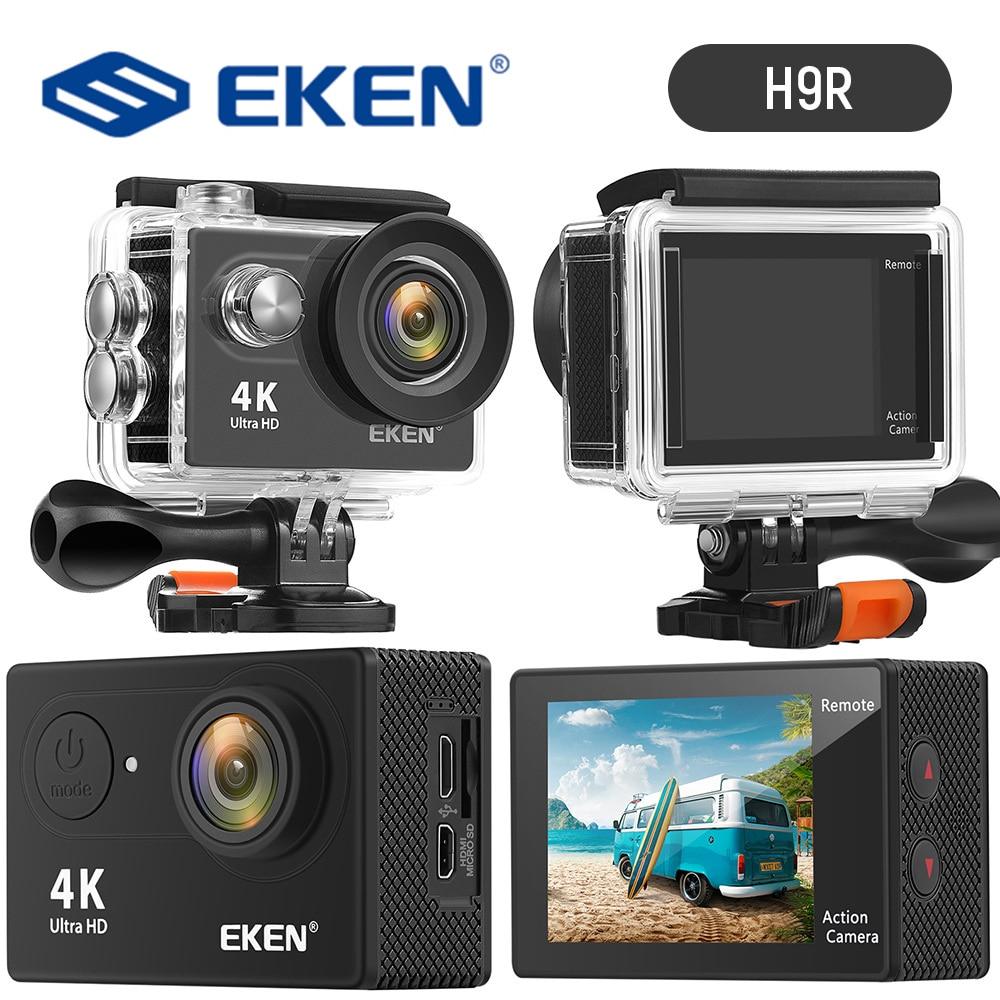 EKEN-كاميرا أكشن H9R HD 4K 30fps ، واي فاي رقمي ، مضاد للاهتزاز ، 170D ، مقاوم للماء ، تسجيل فيديو تحت الماء ، FS