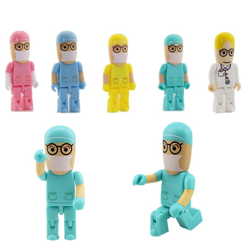 Creative Doctor Pendrive Nurse Usb Flash Drive 256GB Portable Memory Card Pen Drive 128GB U Disk 512GB Usb Stick Free Shipping
