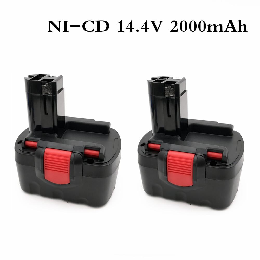 BAT038 14.4V 2000mAh Rechargeable Battery for bosch 14.4V Battery BAT038 BAT040 BAT140 BAT159 BAT041 3660K NI-CD