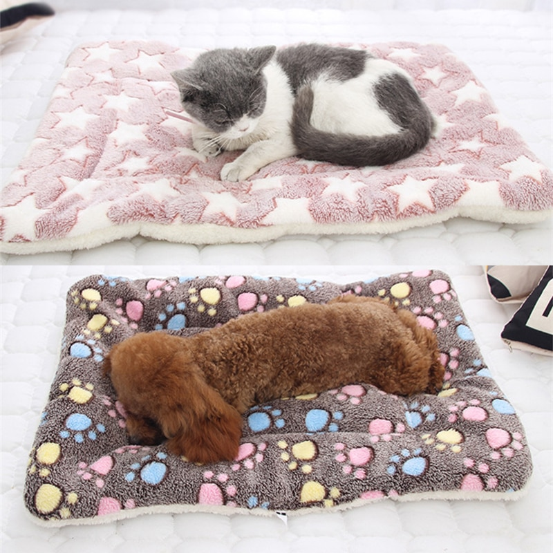 Pet Mats Thicken Soft Cat Bed for Dog Alfombra Mat Winter Cat Mat Blanket Pet Products Dog Bed For Small Large Dogs Carpet