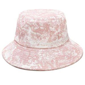 Unisex Ink Painting Vintage Bucket Hat Tie-Dye Printed Outdoor Fisherman Cap