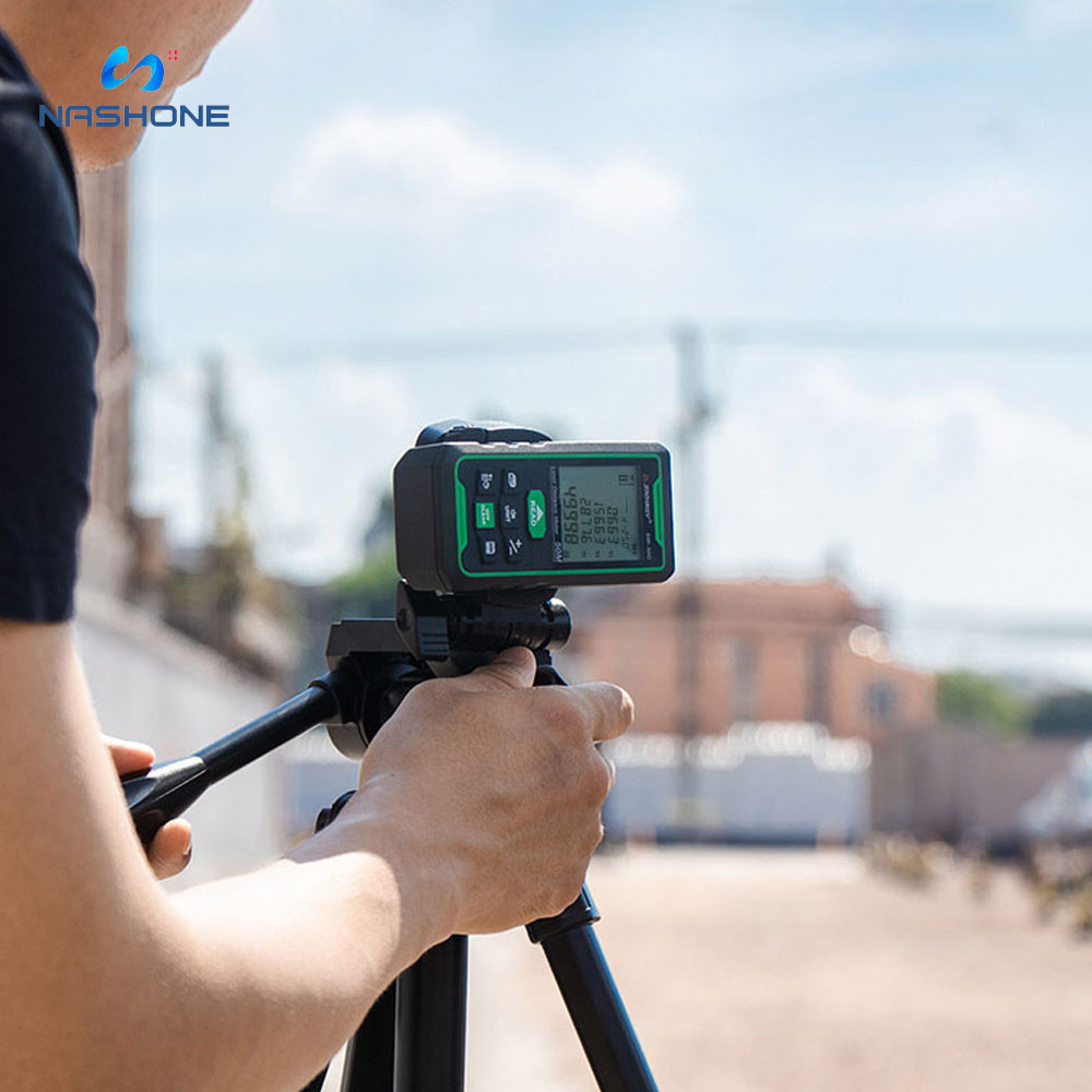 Nashone-Medidor de distancia láser, telémetro Digital verde, 100m, 70m, 50m, Trena Lazer,...