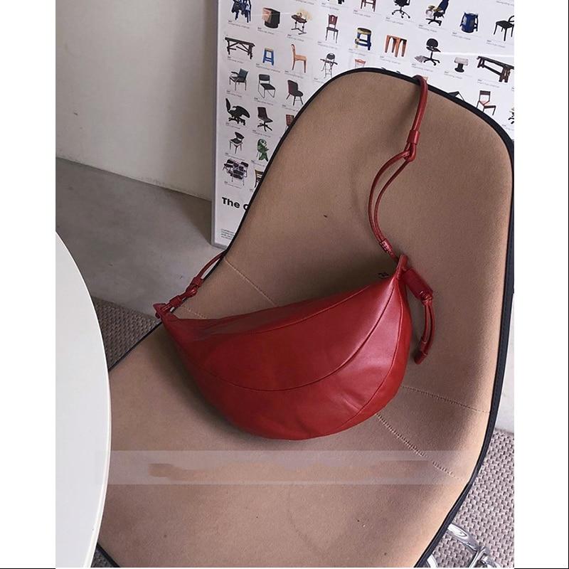 Couro do Plutônio Bolsa de Ombro Crossbody para as Mulheres Bolsas e Bolsa Moda Quente Meninas Feminina Shopper Forma Crescente Mini Carteira 2021