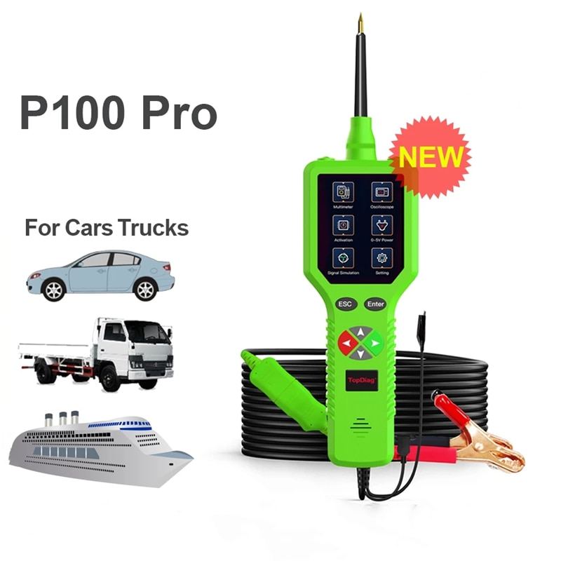 2021 New P100 Pro PK PS100 P200 Injector Tester Power Probe Tool Car Circuit Analyzer Automotive Electric System Tool