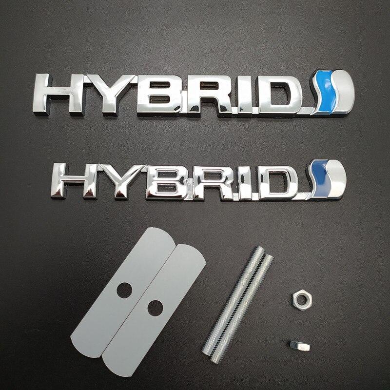 3D Car Styling Hybrid logo Metal Car Stickers Emblem Auto Badge Decal Car Grill Emblem  For Toyota Prius Camry Crown Auris Rav4