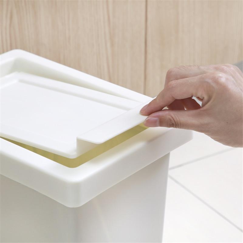 Kitchen Trash Bin Large Plastic Living Room Creative Trash Bin Toilet Bin Home Storage Bins with Lid Poubelles Waste Bin DJ60LT enlarge