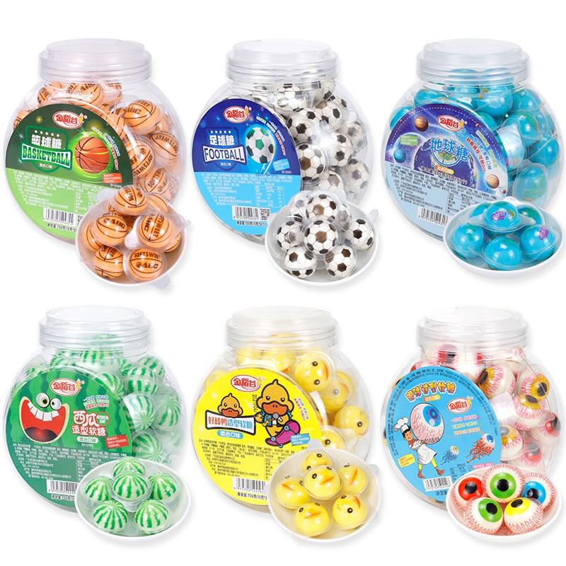 Золотой Рис 3D земля конфеты креативные Глазные яблоки Жевательная сетка красные конфеты с глазами жевательные конфеты для детей поделитьс...