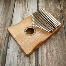 17 clés Kalimba africain solide acajou pouce Piano Sanza 17 clés en bois massif Kalimba Mbira pouce