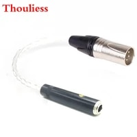 thoulies hifi single crystal silver 6 35mm trs 3pin female to 4pin xlr balanced male audio adapter cable 6 35 to xlr connector