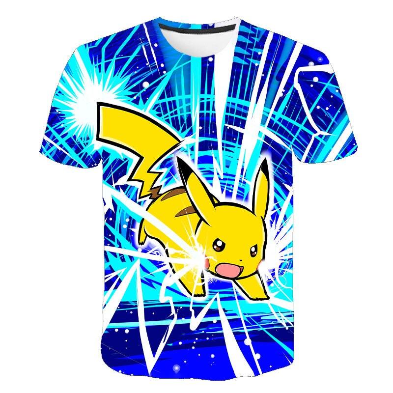 2020 neue Pokemon Pikachu T hemd Männer Frauen 3D Casual Kinder T-shirts Sommer T-shirt Mode Anime Cartoon Kinder Tops Tees
