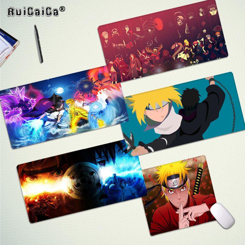 Alfombrilla de escritorio RuiCaiCa Cool Anime nuevo Naruto Itachi Alfombrilla de ratón de goma Natural para jugar, envío gratis, alfombrilla grande para ratón, alfombrilla para teclado