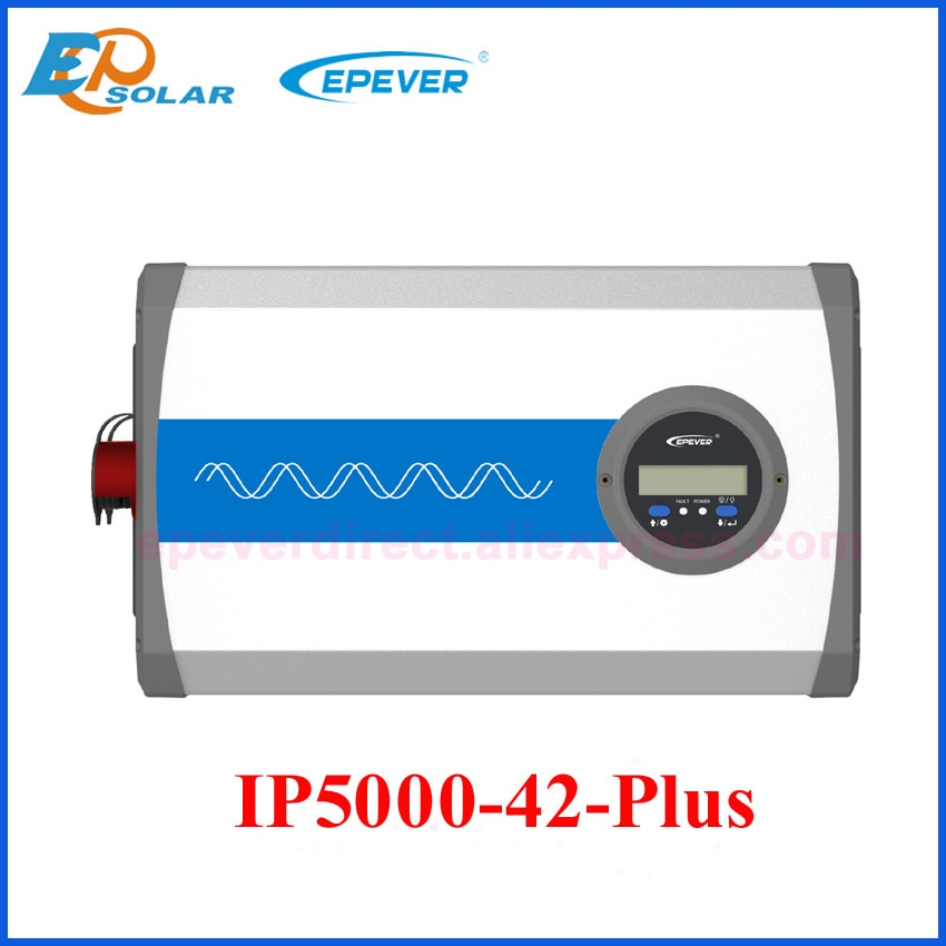 EPEVER IP5000 زائد 5000w 5KW محض الشرط موجة العاكس DC 48v إلى AC 220v ، 230v ، 240v IP سلسلة مع LCD عرض IP5000-42-Plus