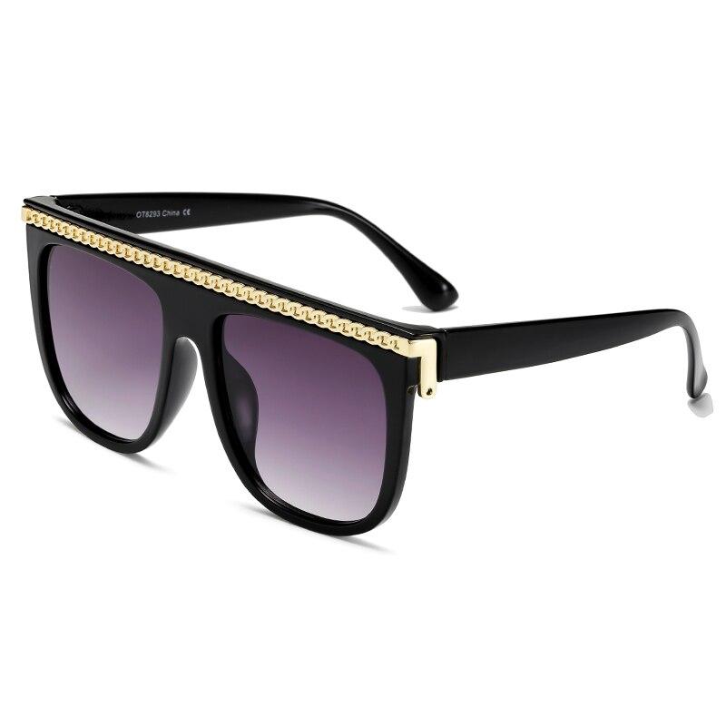 Brand Design Flat Top Sunglasses New Women Luxury Square Sun Glasses UV400 Vintage Men Sunglass Shad