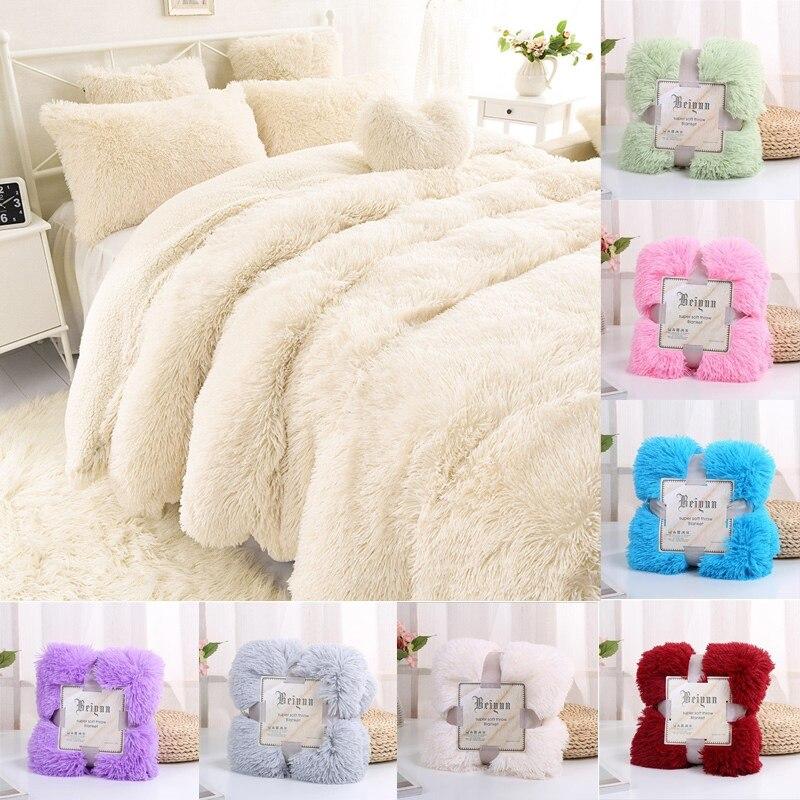 بطانية فرو طويلة الوبر ، غطاء زخرفي فائق النعومة ، قطيفة فائقة ، للشتاء ، للأريكة والسرير ، 130 × 160 سنتيمتر/160 × 200 سنتيمتر ، جديد