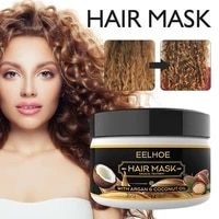30g coconut oil hair care mask curly hair lofting cream repairs damaged roots and nourishes hair scalp treatments
