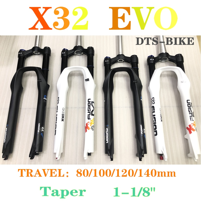 "Horquilla de bicicleta de montaña X-FUSION X32 EVO RL2 para bicicleta de aire 26 ""/27.5er/650B para XC/TRAIL QR9mm de 100/120/140mm Manual de Control"