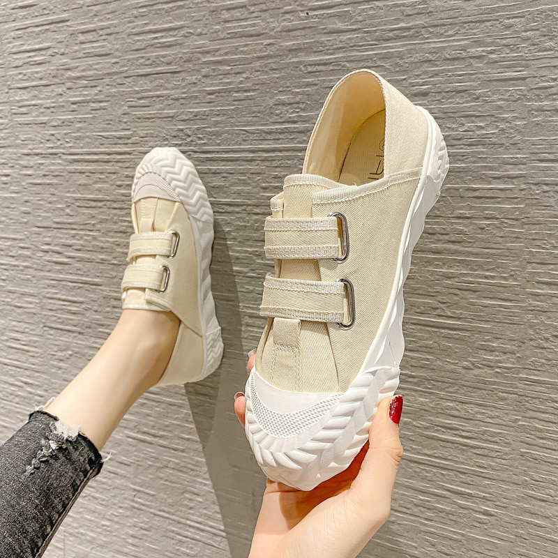 2021 Women Canvas Sneakers Ladies Vulcanize Shoes Sport Basic Retro Light Breathable Fashion Casual