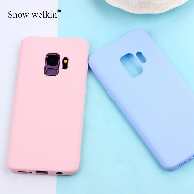 Matte Candy TPU Case For Samsung Galaxy S10 Plus S10E S8 S9 Note 9 8 5 A7 2018 S6 S7 Edge J3 J5 J7 2