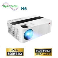 ByJoTeCH H6 1920x1080 Full HD 1080P projecteur 6000 lumens Proyector video cinema maison Android WIFI en option Beamer T6 UP