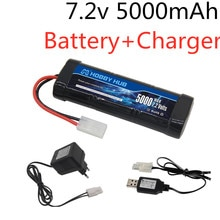 7.2V 5000mAh Ni-MH Battery Pack with Tamiya Plug With 7.2v Charger and SC*6 Cells Battery for RC Rac