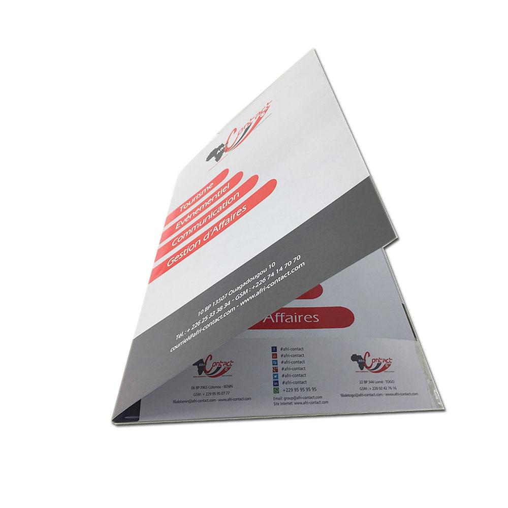 Hot Selling Folded Leaflet flyer Promotion Printable Fold Brochure Printing