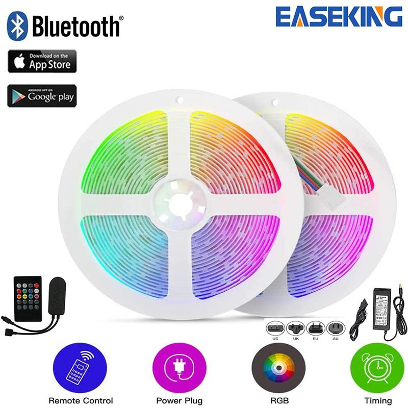Flexible 12V SMD5050 RGB Light Strip 5M 10M Multicolor Led Tape Lights Bluetooth Controller RGB Strip Lighting Ehome Light APP