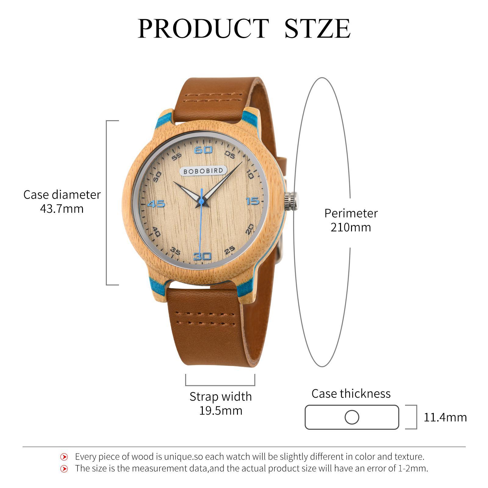 Couple Watch BOBO BIRD Wooden Simple Fashion Leather Wristwatch Men And Women Personality Timepiece Great Gift Reloj Luminous enlarge