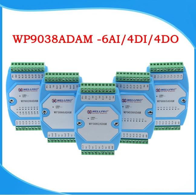 0-20MA/4-20MA Current Acquisition Module 6AI/4DI/4DO MODBUS Communication-WP9038ADAM