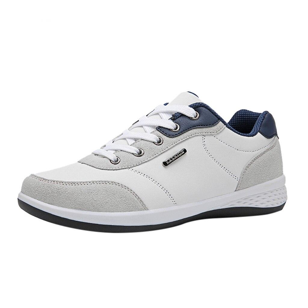 Kancolle moda masculina selvagem rendas até sapatos de couro esporte respirável confortável andando atlético estudante tênis corrida 1218
