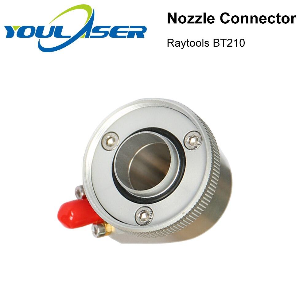 Cabezal de corte láser de fibra Raytools BT210 BT210S, pieza de conexión de boquilla para cortadora de Metal de fibra